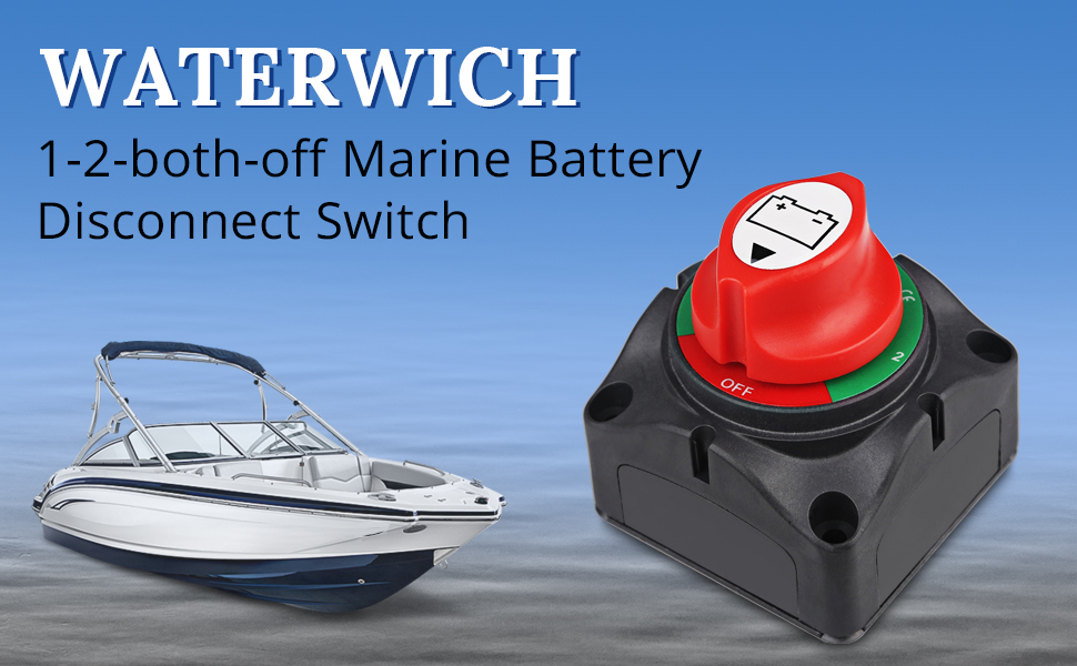 Amazon.com: WATERWICH Battery Disconnect Switch Kit 1-2-both-off ...