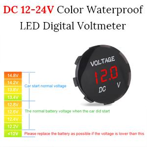 DC 12-24V Waterproof LED Digital Voltmeter