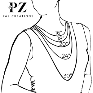 paz creations necklace size