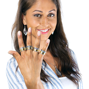 Paz Creations Gemstone Spinner Ring