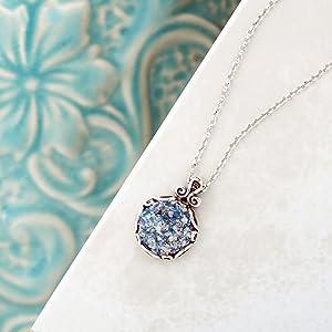 Roman Glass necklace Paz Creations