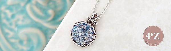 paz creations roman glass necklace