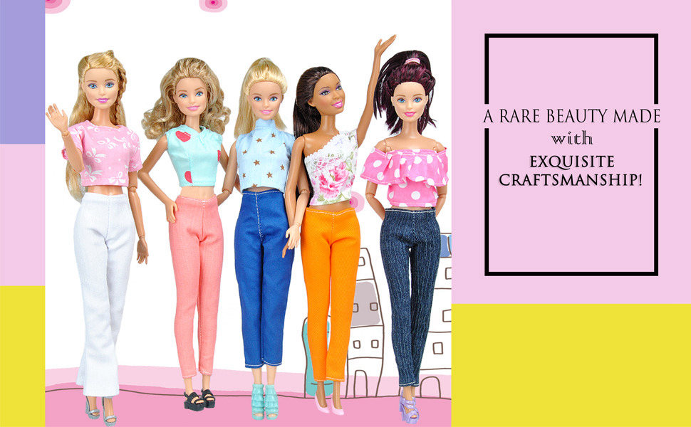d69902577ecc31 Give your Girl doll A Modern Stylish Clothing which produce by E-TING and  let your little girls dress up all their favorite girl doll and similar  dolls