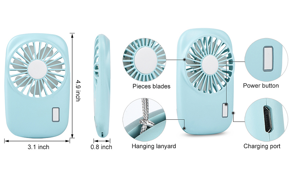 Have An Inquiring Mind Mini Fan 2000mah Rechargeable Usb Fan Portable Handheld Fan 3-speed Desktop Cooling Fan Small Air Conditioning Appliances
