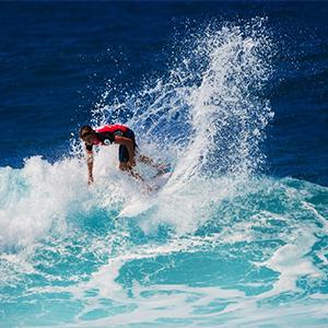 men play surfing