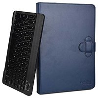 2-in-1 LEATHER FOLIO CASE WITH STAND & DETACHABLE KEYBOARD
