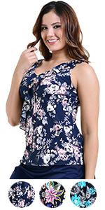 47f20ebb6d0 Solid One-Piece Swim Dress · Tankini Swimsuit · Floral Swimsuit · Floral Tankini  Swimsuit · Keyhole Neck One-Piece Swimsuit · Ruffle Swim Skirt Bottom