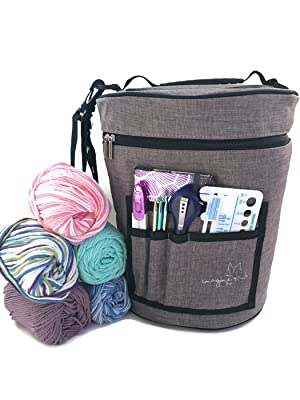 Our Yarn Drum Is Made Of High Quality Sturdy Canvas Material With A  Zippered Lid To Keep Yarn Clean And Away From Pets, Dust And Dirt!