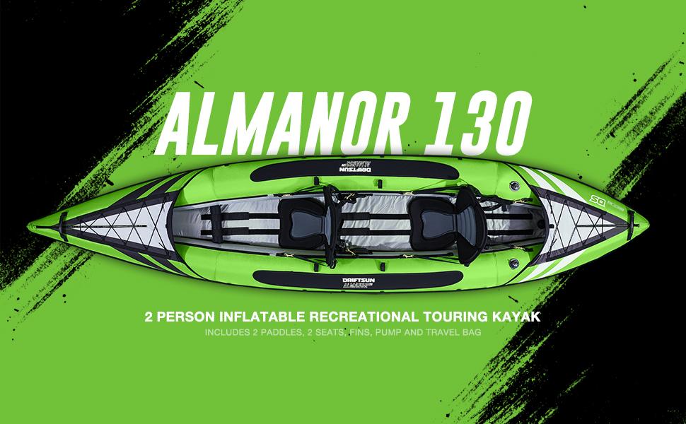 Almanor 130, 2 Person inflatable Recreational Touring Kayak