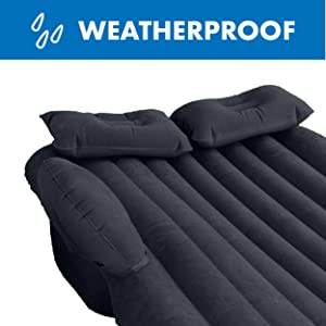 Winterial Back Seat Inflatable Car Camping Travel Mattress, Fits Most Cars, Trucks and SUVs, Twin