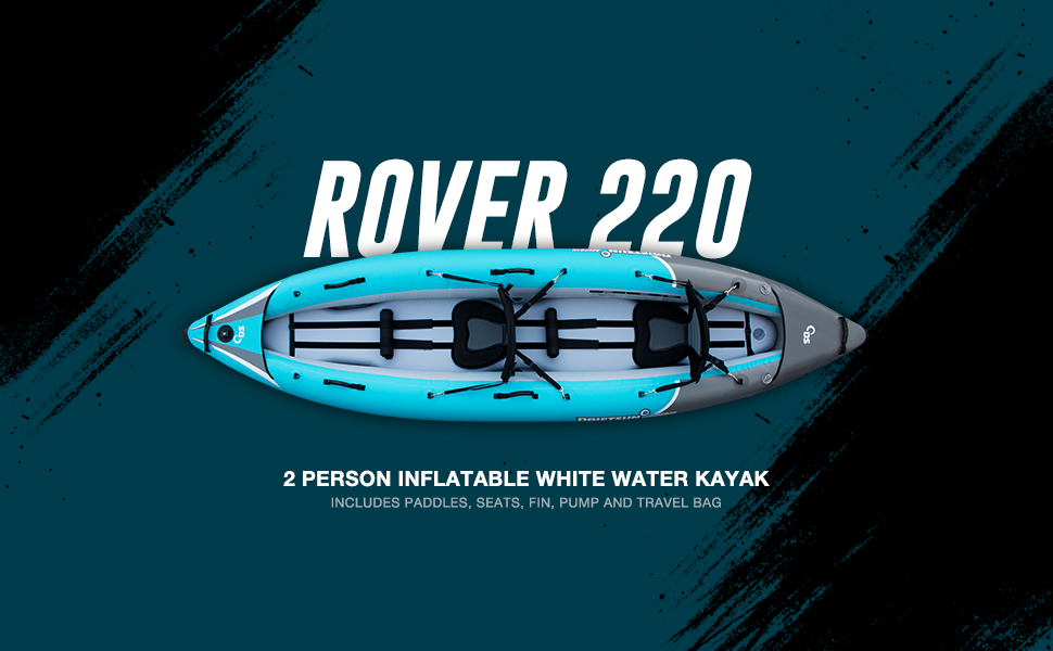 Rover 220 2 Person Inflatable White Water Kayak
