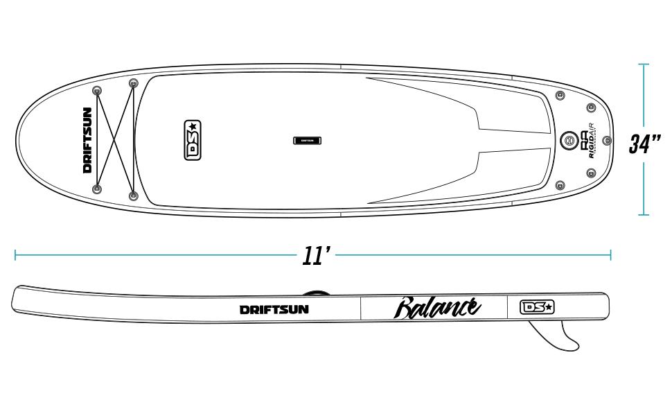 Driftsun Balance Paddleboard Dimensions