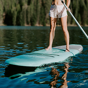 Driftsun Soft Top Rigid Stand Up Paddleboard 11ft SUP, with Paddle, Fin, and Leash