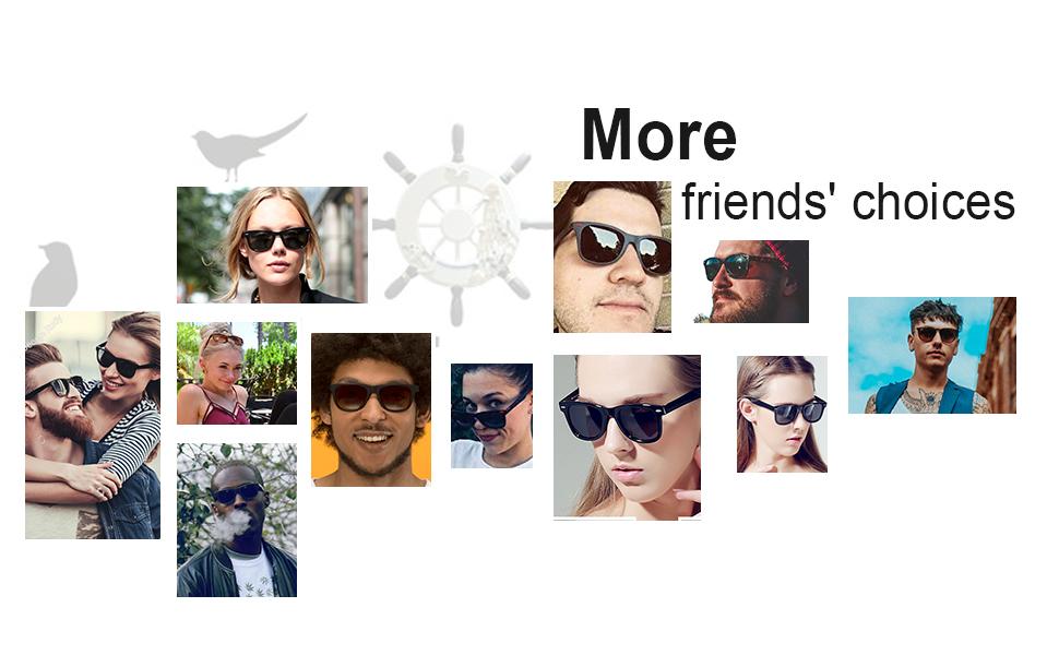 006d44854a155 Amazon.com  Polarized Sunglasses for Men and Women - Feirdio Classic ...