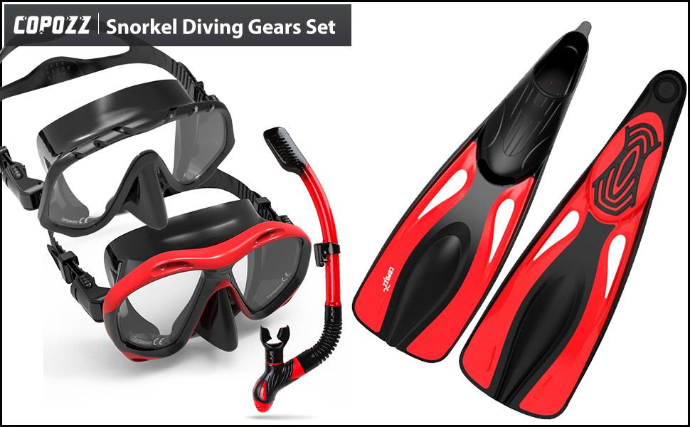 62e2890213dc YFX Create Diving Mask Nose Cover Swim Goggles Scuba Freediving Swimming  Mask for Men Women Adult ...