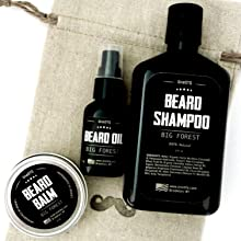 beard kit set care gift shampoo wash oil conditioner balm growth grow products black face mens best