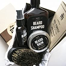 Beard kit set box oil shampoo wash oil balm brush gift mens care grooming growth grow best products