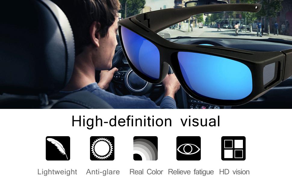 3b6006ec956 Amazon.com  Oversized Lens Cover Sunglasses Mirrored - Warp Around ...