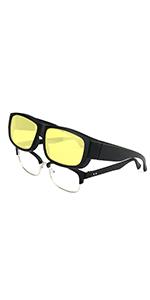 c95d604517 Night Vision HD Wear Over Glasses · Fashion Over Glasses Sunglasses · Half  Frame Fit Over Sunglasses · Polarized Over Prescription Glasses