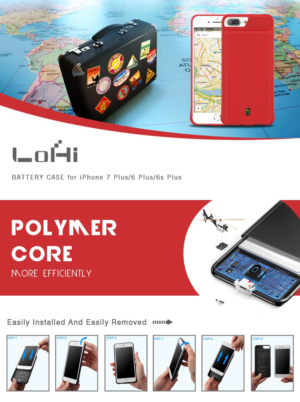 Iphone 7 Plus / 6s Plus / 6 Plus Battery Case