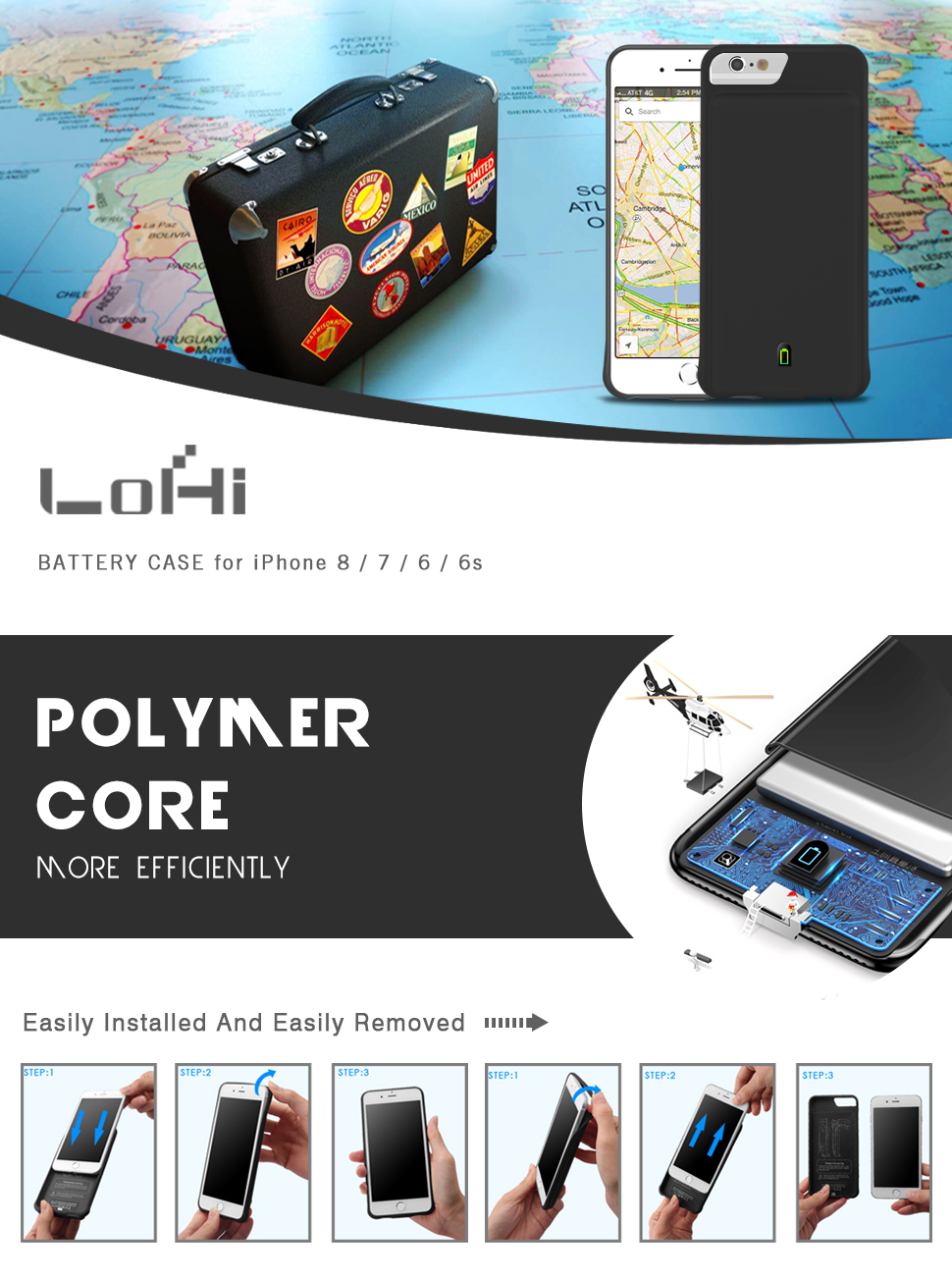 iPhone 8 / 7 / 6s / 6 Battery Case-LoHi
