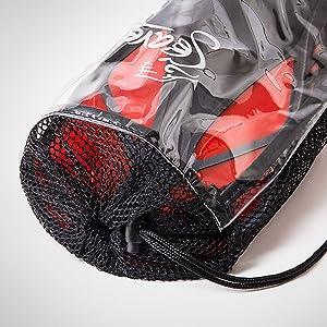 Seavenger mesh gear bag for trek fins, lightweight mesh drawstring bag