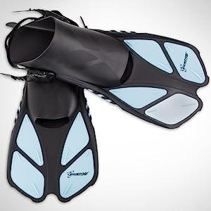 Seavenger 16-inch trek fins, mobility and flexibility. easy-kick design