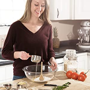 model with kitchen gadgets