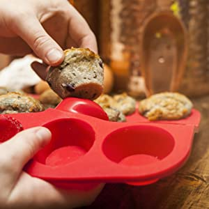nonstick silicone muffin pan