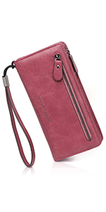db19204b8518 APHISON Women's Soft Leather Long Wallet Lady Credit Card Clutch ...