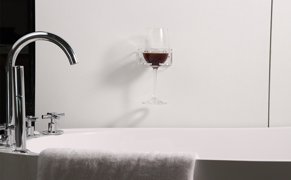 Green Red Wine Glass Holder Portable Suction Cup Drink Holder Cupholder Caddy for Beer /& Wine Anyren Plastic Wine Glass Holder for Bath Shower Relax