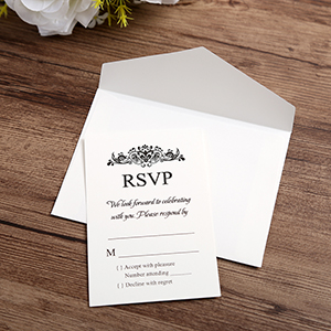 1. Perfect RSVP cards and envelopes