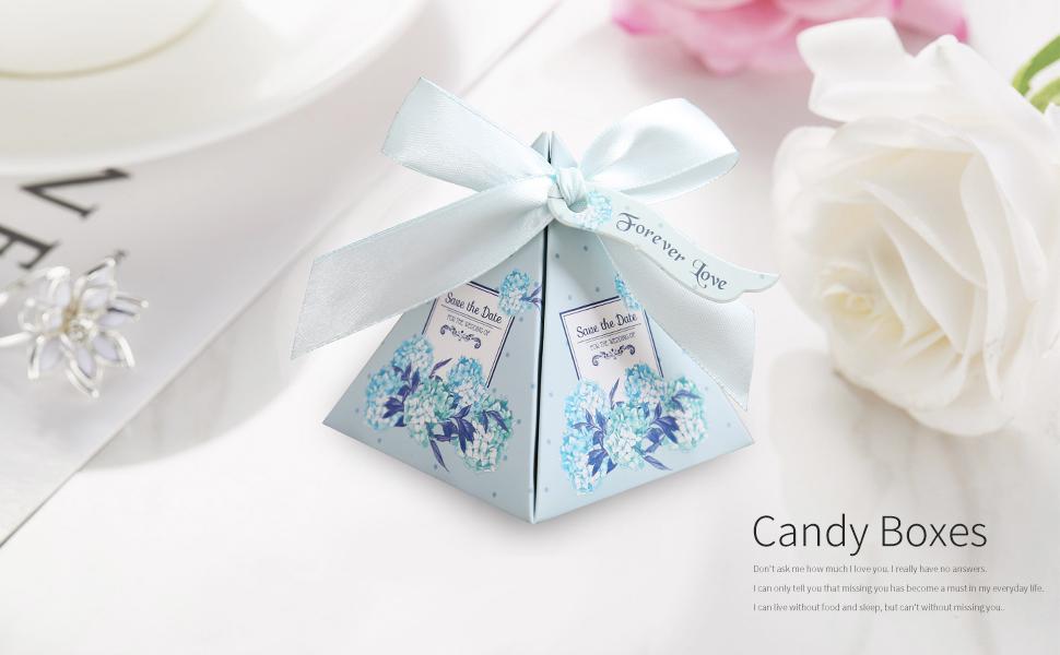 Amazon Doris Home 100 Pcs Floral Pyramid Wedding Favor Candy