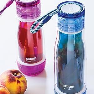 Amazon.com: Botella para agua, vidrio de borosilicato, de ...