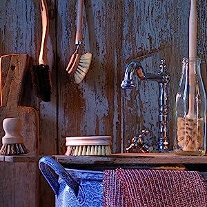 dish brush bottle cleaner scrub vegetable versatile kitchen tool handmade in germany all natural fun