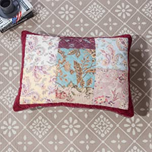 burgundy, velvet trim, real patchwork, vibrant, colorful, floral, paisley, bohemian, valentine, cute