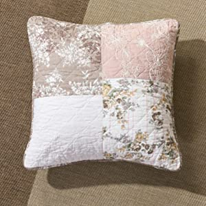 real patchwork, cottage, french country, rosey pink, brown, pastel, floral, cute, cushion covers
