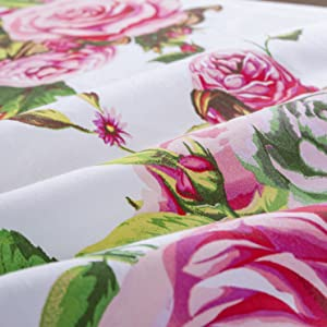pink, roses, floral, garden, fitted sheets, bedding, elegant, romantic, valentine, fancy, royal cute