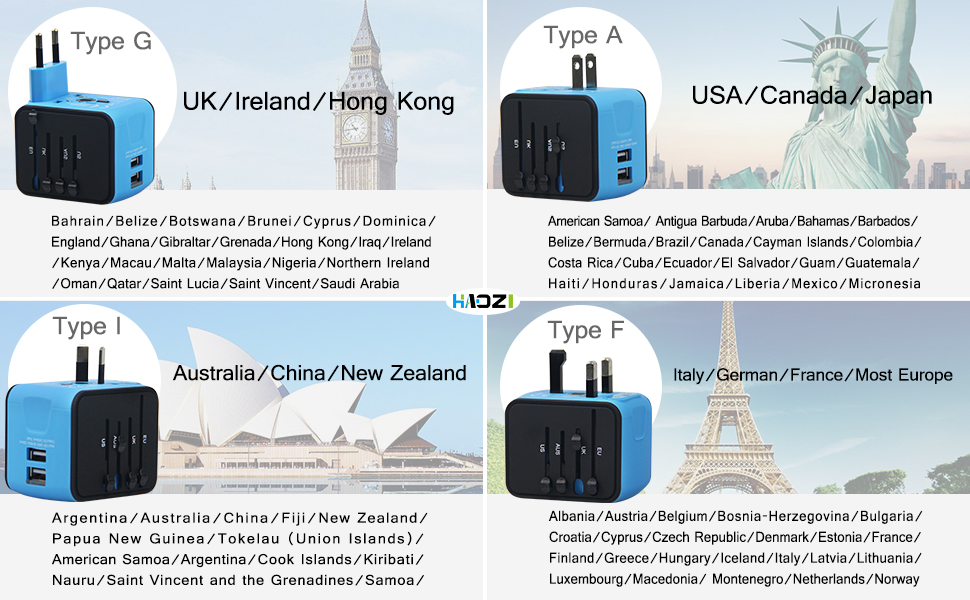 travel adapter, international adapter, power adapter