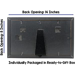 8x14 Black Gallery Picture Frame Back Features