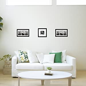 Living Room with 10x10 and 8x14 picture frames