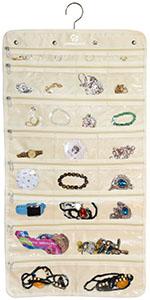 Hanging Jewelry Organizer Zipper Version
