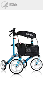 Amazon.com: OasisSpace - Caminero plegable con asiento ancho ...