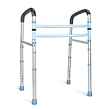 Adjustable Toilet Handrails   Medical Stand-Alone Toilet Safety Frame and Commode Rail