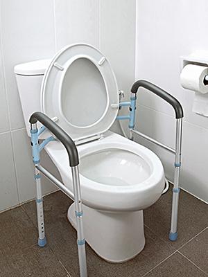 Stand Alone Toilet Safety Rail  Heavy Duty Medical Toilet Safety Frame for Elderly