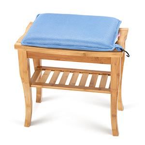 Shower Bench Bath Seat Cushion Waterproof - Foam Bath Cushion for Transfer Benches bamboo teak