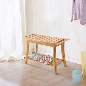 Amazon Com Oasisspace Bamboo Shower Bench 24 Waterproof Shower