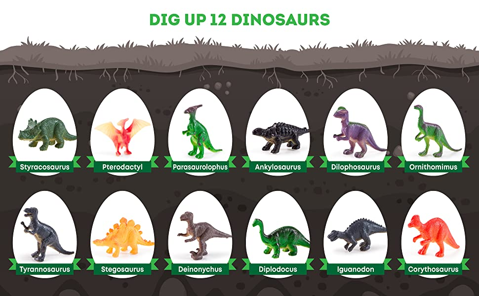 Dig Up 12 Dinosaurs