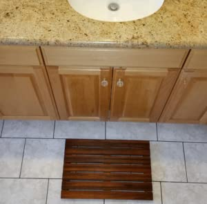 The Soothing Styles Teak Shower Mat Adds A High End Look To Any Bathroom