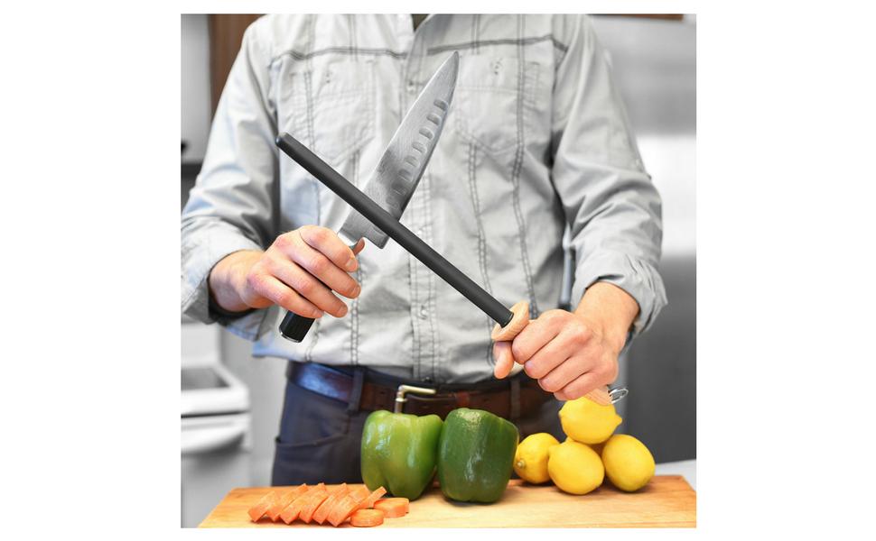 Amazon.com: Cuchillo profesional para afilar varillas de ...